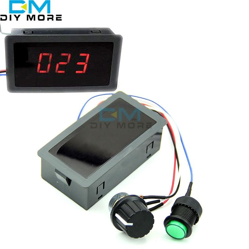 Red LED Display Digital DC 6V-30V 12V 24V 6A 8A Motor Speed Controller Adjustable 16kHz PWM Regulator CV Governor Control Switch dc 12v 40v 10a pwm motor speed control switch governor green black