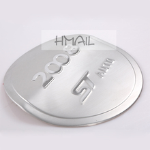 Stainless steel fuel tank cover for 2014-17 PEUGEOT 2008,Free shipping car-styling oil fuel cap decorat trim auto cover stickers topauto 4 5l car fuel tank cap cover key oil gasoline diesel stainless steel storage petrol bucket car motorcycle accessories