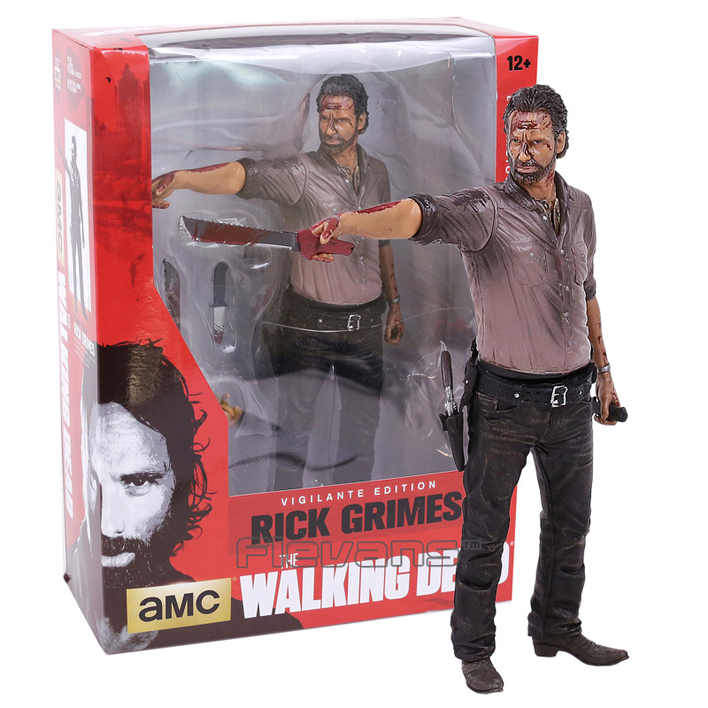 The Walking Dead Rick Grimes PVC Action Figure Collectible Model Toy 2 Types 10inch 25cm shfiguarts batman injustice ver pvc action figure collectible model toy 16cm kt1840