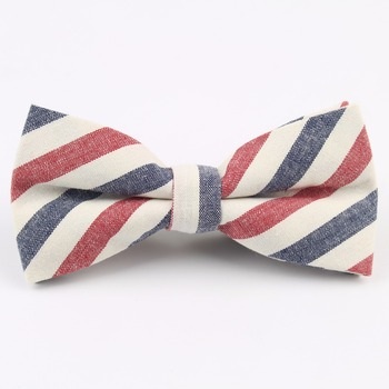 Men Cotton Bowtie Wedding Gentlemen Business Bow Tie England Rainbow Plaid Striped Neck Ties Women Skinny Gravatas Cravat