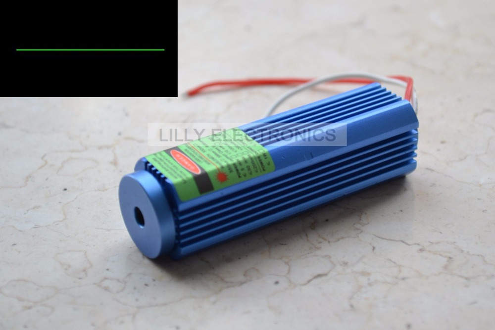 12V DC 515nm 520nm 50mW Focusable/Adjustable Dot Laser Module 25x75mm with US plug 3 5v 450nm 50mw focusable blue laser dot module with aluminum heatsink
