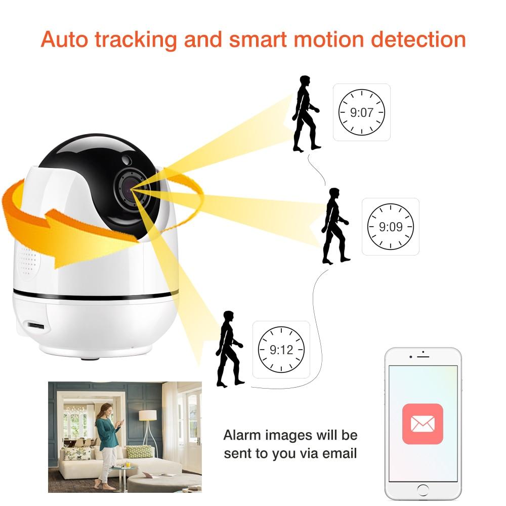 Mini Wireless WiFi IP Camera 1080P 2mp HD Indoor camera de surveillance Human Body Motion Tracking CCTV Camera Motion Detection недорго, оригинальная цена