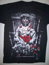 THE CONJURING ANNABELLE CREATION T-Shirt Horror Movie Evil Doll Dead Silence