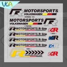 15x15cm R R-Line Motorsports Sticker Set Refitting Car Styling Decals Rearview Mirror Door Handle Window Interior Decor for VW
