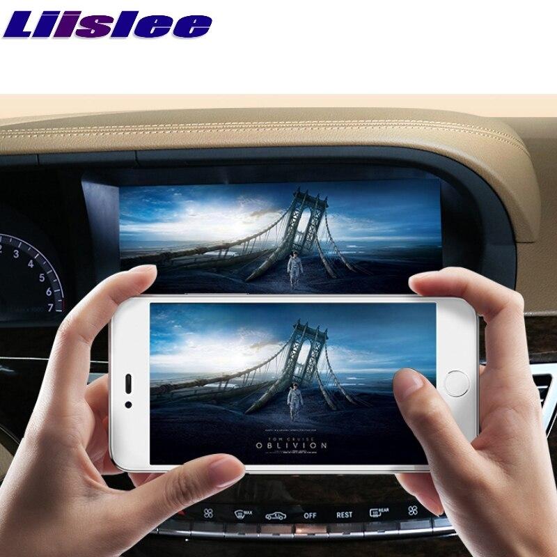 Adaptador CarPlay Liislee Car Multimedia Player NAVI Para Mercedes Benz S W221 S280 S320 S400 S63 2006 ~ 2013 Rádio GPS de Navegação