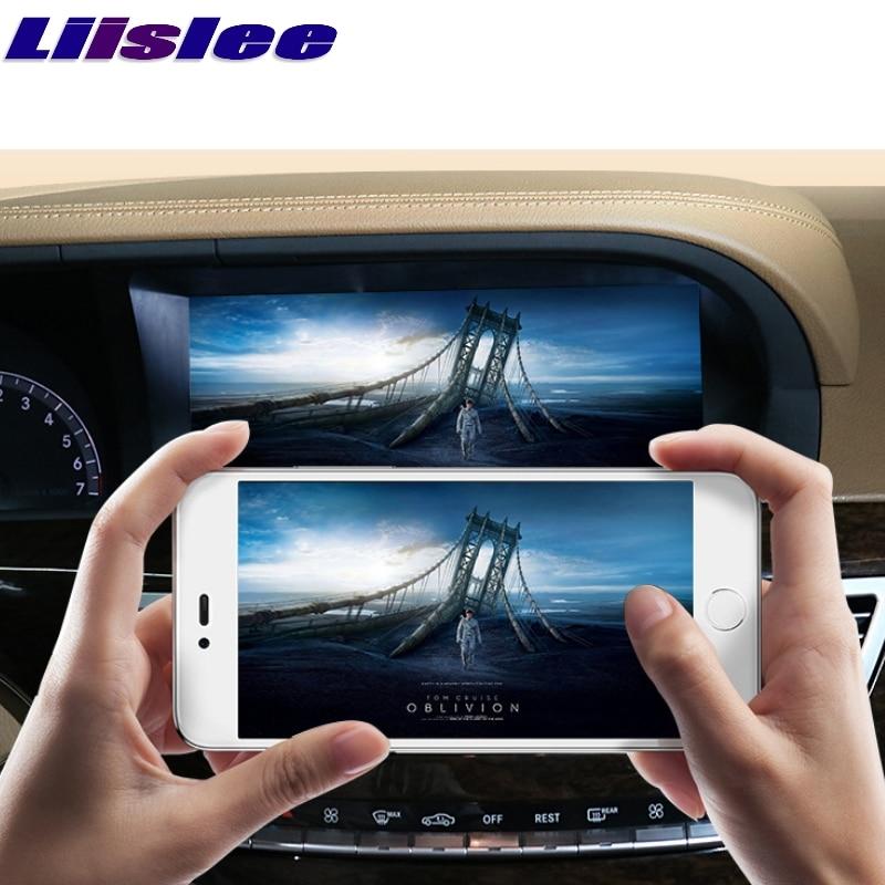 Liislee voiture lecteur multimédia NAVI CarPlay adaptateur pour Mercedes Benz S W221 S280 S320 S400 S63 2006 ~ 2013 Radio GPS Navigation