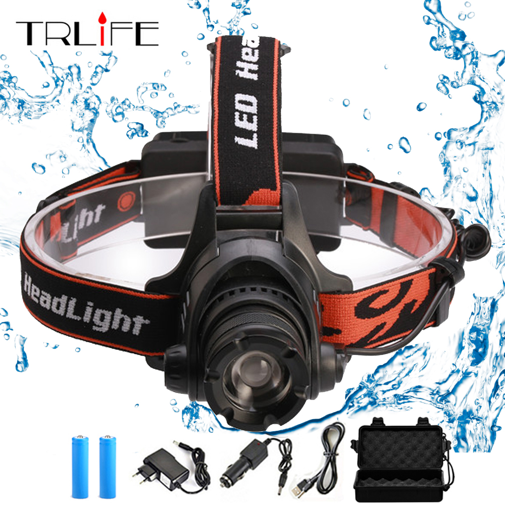 8000Lm LED Headlamp Headlight L2 T6 Rechargeable Head Light Zoomable Waterproof Lamp Fishing Hiking Torch LED By 2*18560 Battery high quality 2 mode power 5w led headlight 48000lx outdoor fishing headlamp rechargeable hunting cap light