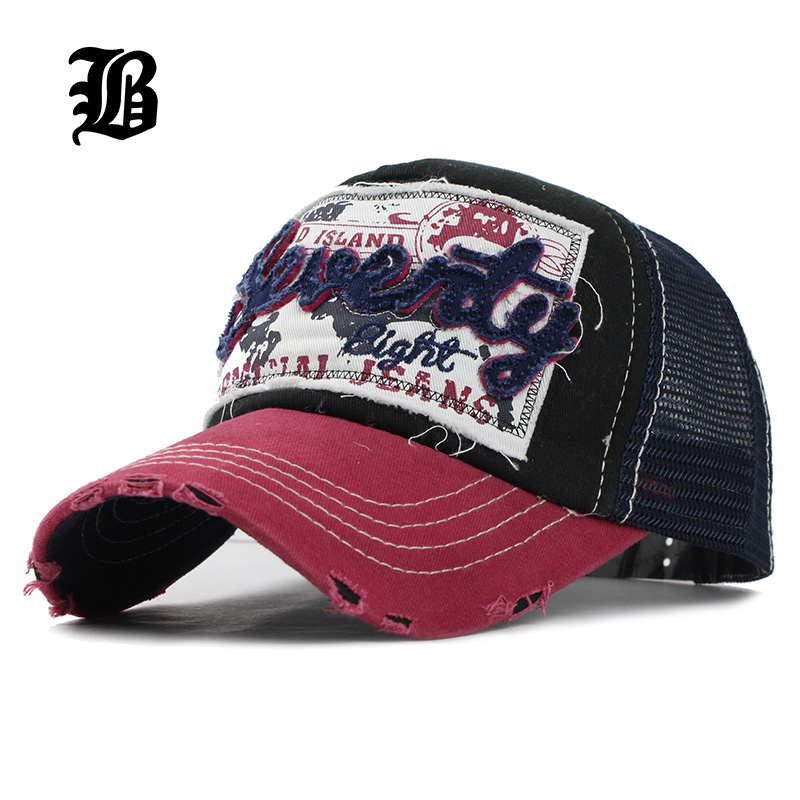 [FLB] New Fashion Super Breathable Baseball Cap with Mesh Summer Sun Hats For Women Men Adjustable dad Snapback Hat