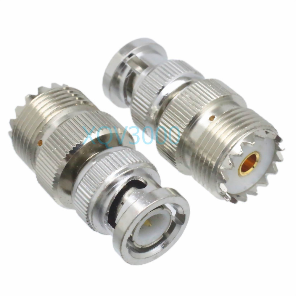 10 PCS BNC Male to UHF SO-239 Female Connector USA Seller