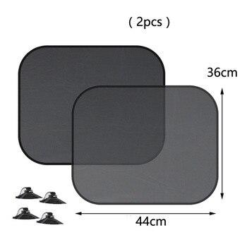 Super Quality 2pcs Black Side Car Sun Shades Rear Window Sunshades Cover Mesh Visor Shield Screen Interior UV protection kids - discount item  14% OFF Exterior Accessories