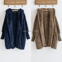 Cheshanf חדש החורף אירופאי ואמריקאי רופפים צד כפול מעיל צמר מעיל צמר ארוך אופנה משלוח חינם