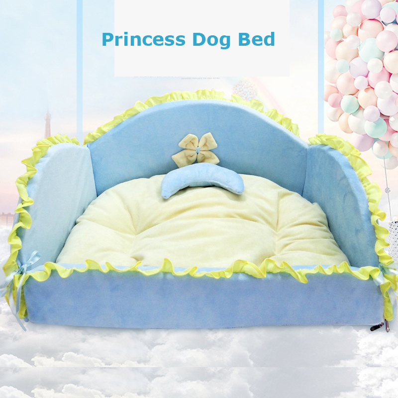luxury princess cat beds pink blue bows chihuahua yorkshire small