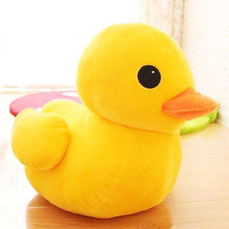 O pato amarelo grande de ggs 20cm 30cm encheu o brinquedo do luxuoso dos animais, luxuoso grande bonito do pato amarelo caçoa brinquedos para a boneca do bebê do presente de aniversário