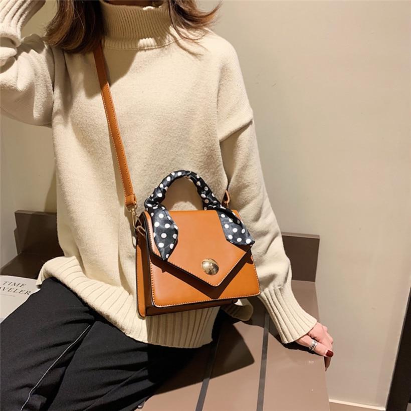 Big Sale 2018 Autumn New Bag for Women Tide Female Bag Wild Big Bag Retro Handbag Commuter Scarf Femme Shoulder Messenger Bag 5