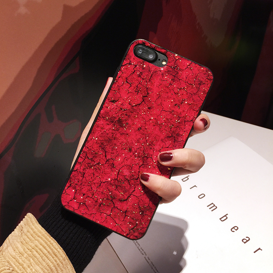 Qianliyao Luxury Purple Marble Gold Foil Phone Case For iPhone X XS XR Max Cases For iPhone 8 7 6S 6 Plus Soft Back Cover Coque in Fitted Cases from Cellphones Telecommunications