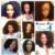 U Parte Peluca Corta Peluca Brasileña Virginal Del Pelo Rizado Afro rizado tiro Del Pelo Humano Pelucas Para Las Mujeres Negras Sin Cola Peluca Del Frente Del Cordón