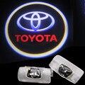 2 pcs LED Car Porta Bem-vindo A Luz do Laser Porta Do Carro Sombra Logotipo Projetor levou Para 07-14 TOYOTA Land Cruiser 200 V8 FJ200