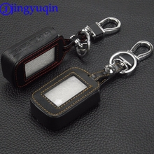 jingyuqin 4 Buttons Remote Leather Key Cover Case Chain For Starline E60 E61 E62 E90 E91 2 Way Car Alarm System