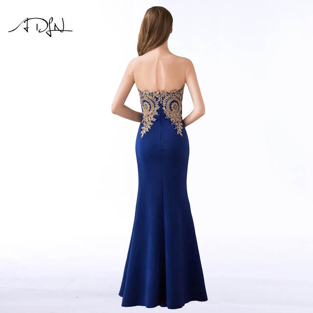 placeholder ADLN 2018 Royal Blue Mermaid Evening Dresses Simple Party Gowns  Long Cheap Prom Wear Special Occasion b94604462c17