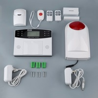 9pcs Set GSM Wireless Smart Voice Anti Theft Alarm System With LCD Display PIR Sensor Magnetic