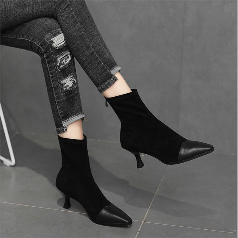 Leather Thin Heels Office Shoes New Arrival Women Pumps Fashion High Heels Shoes Women's Pointed Toe Sexy Shoes Shallow 3