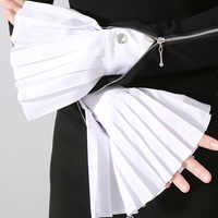 Cotton new wilde fake sleeve cuffs Pleated decorative shirt sleeves Mysterious decorated Lace Fake Sleeve Decorated Cuffs Pearl