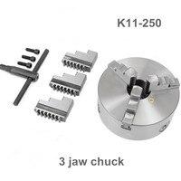 CNC токарный патрон 3 челюсти самоцентрирующейся 10 K11 250 K11 250 закаленная Сталь для ЧПУ оси вращения бурения фрезерный станок