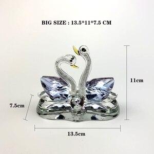 Image 4 - Auto ornamenti Creativo casa auto decorazione sede del profumo coppia cigno decorazioni profumo materiale di Cristallo migliore regalo per le persone