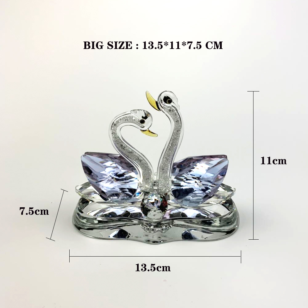 Image 4 - car ornaments Creative home car decoration perfume seat swan couple perfume decorations Crystal material best gift for people-in Ornaments from Automobiles & Motorcycles