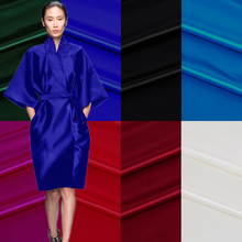 1 meter silk/wool fabric for sewing solid 40 momme fashionable dress cloth overcoat Christmas zakka patchwork tecido new