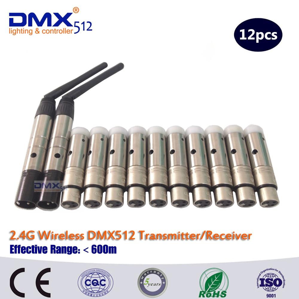 DHL Free Shipping  2.4G Mini Wireless DMX Controller Wireless DMX512 Transmitter And Receiver DMX Light Controller dhl fast free shipping wireless dmx receiver transmitter rgb led controller dmx wireless