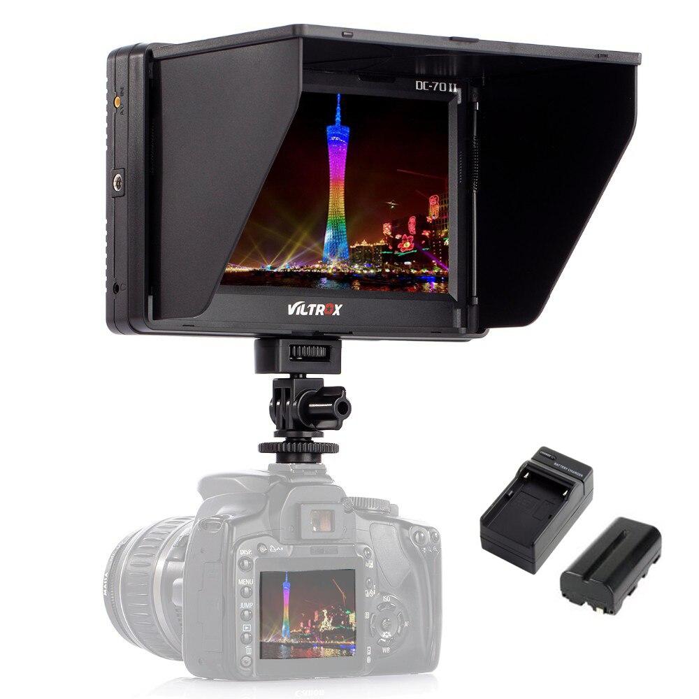 Viltrox 7 ''DC-70II Clip-sur HD LCD HDMI AV Entrée 4 K Caméra Vidéo Moniteur Affichage + Batterie + chargeur pour Canon Nikon DSLR BMPCC