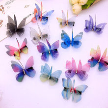 Girls Colorful Butterfly Cartoon design hairpin shiny sequins realistic hair clips fashion hairgrips  barrettes accessories