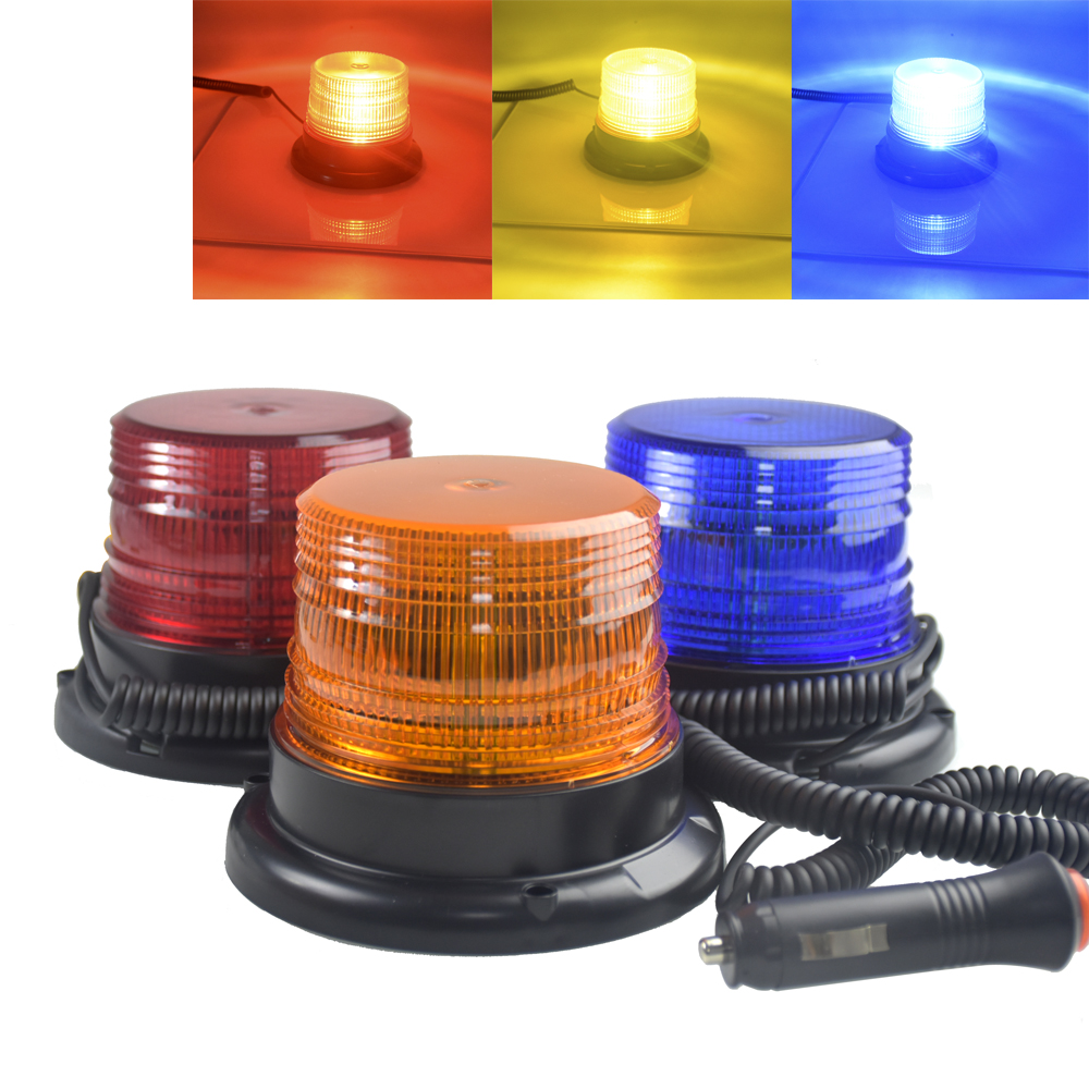 DC 12V-80V Strobe Car Cargo Truck Carrying a Circular Signal Magnetic Ceiling Warning Police Lights One kind of strobe 3 color фары для мотоциклов new atv e 3 dc 12v 80v 9w