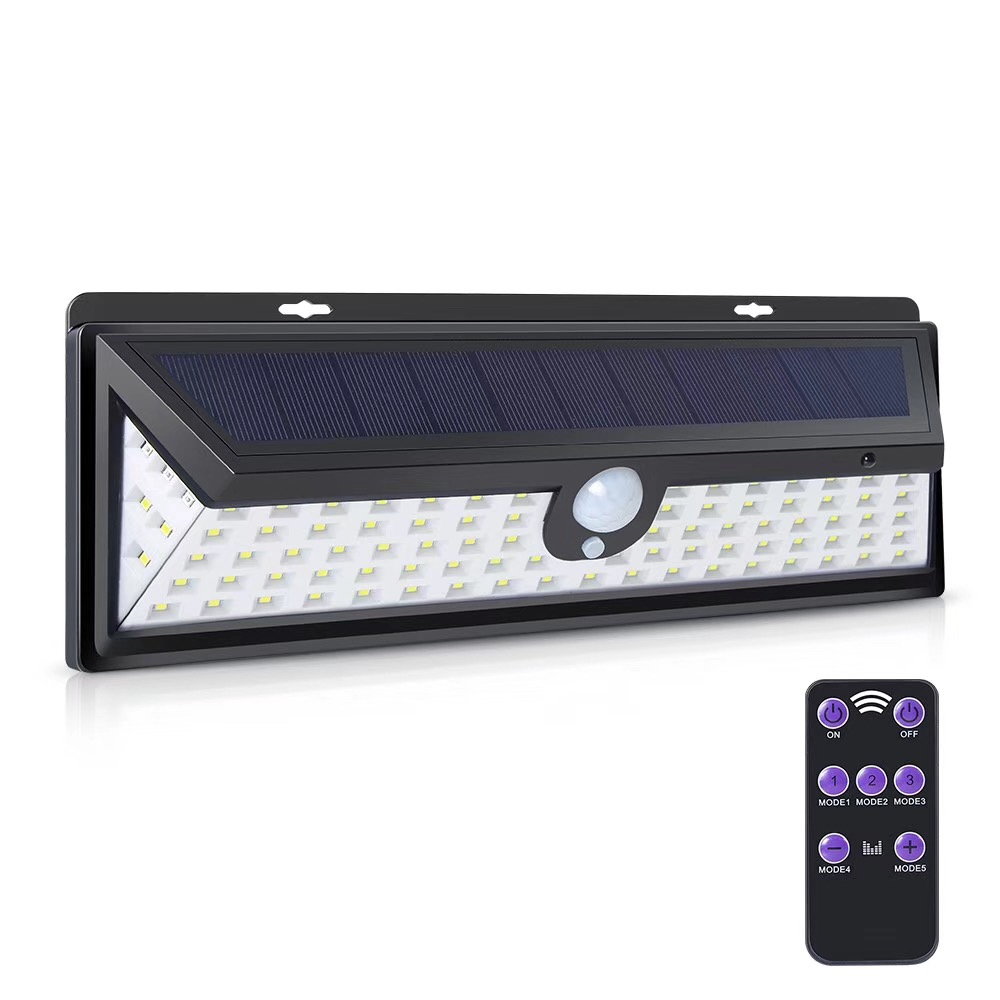 Solar Light 92 LED Sensor Motion With Remote Control PIR Alarm Solar Lamp For Garden Wall Solar Outdoor Lighting