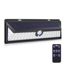 Solar Light 92 LED Sensor Motion With Remote Control PIR Alarm Solar Lamp For Garden Wall Solar Outdoor Lighting