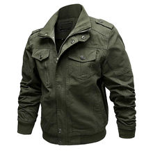 Militaire Jas Mannen Winter Katoenen Jas Jas Army Heren Pilot Jacket Air Force Herfst Casual Cargo Jaqueta(China)