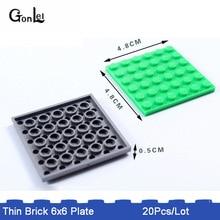 *Plate 6x6* DIY 20pcs/lot Small Dots Compatible with 3958 MOC Bricklink Parts Blocks Assemble Particles Building Toys