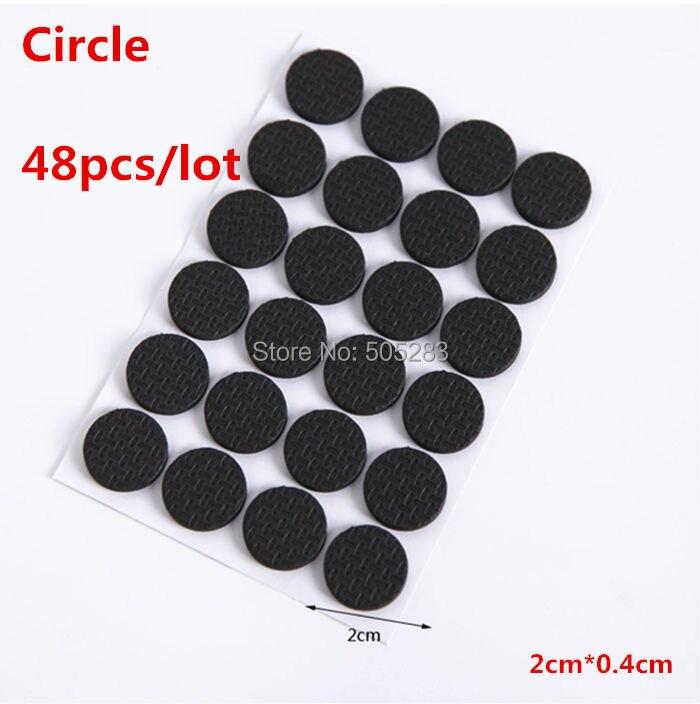 2Set Rubber Antiskid Shockproof Sticker Tape Mute Pads Chair Non Slip Pad  Desk Feet Mats