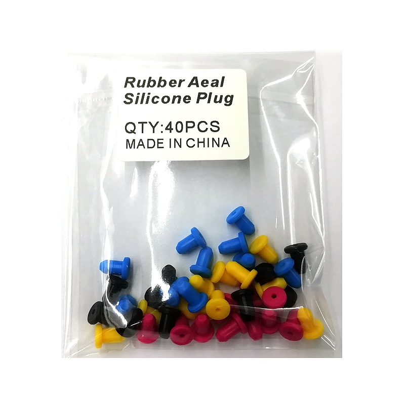 4mm Sealing To Prevent Air Leakage Silica Gel Rubber Seal Silicone Plug Use For Ink Cartridge Filling Part Sealing Accessories