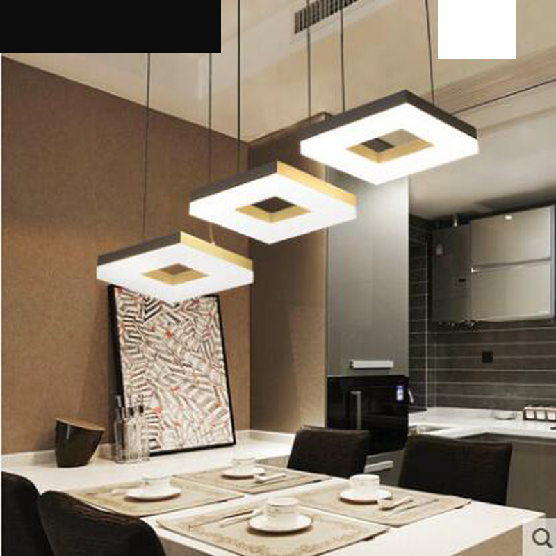 купить Simple modern led restaurant light three bar dining room creative personality loft chandelier bedroom lighting lamps онлайн