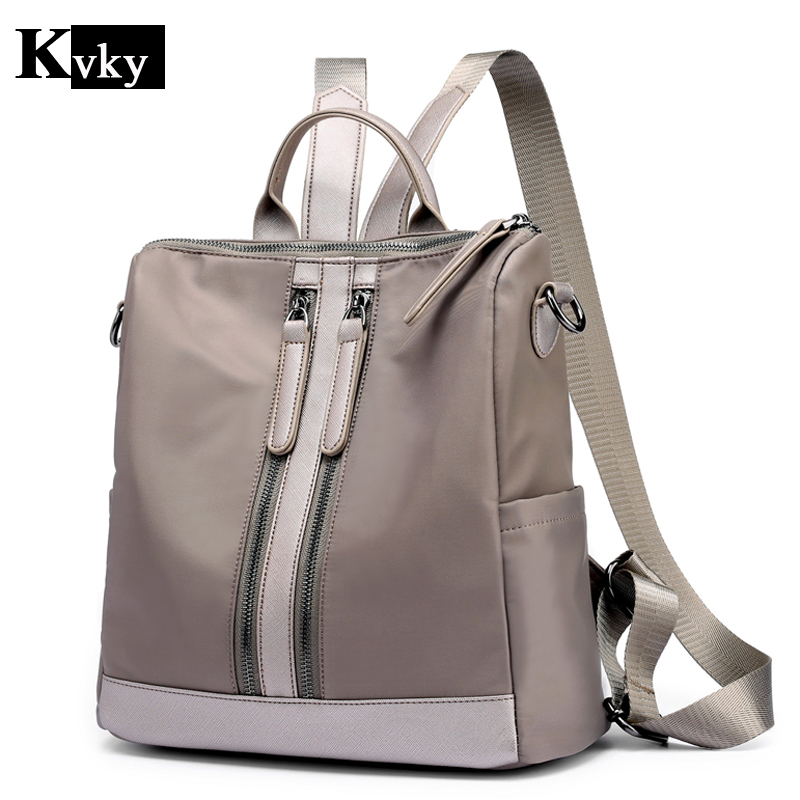Best buy Women Backpack Brand Nylon Lady Double Shoulder Bag Women s Backpacks  Female Casual Travel Backpack Bags Mochila Feminina online cheap 74d3c284586da