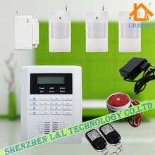 GSM PSTN Двойного Сети Русский Испанский Английский Беспроводная GSM PSTN Сигнализация Главная Охранные Системы Сигнализации с ЖК Клавиатура