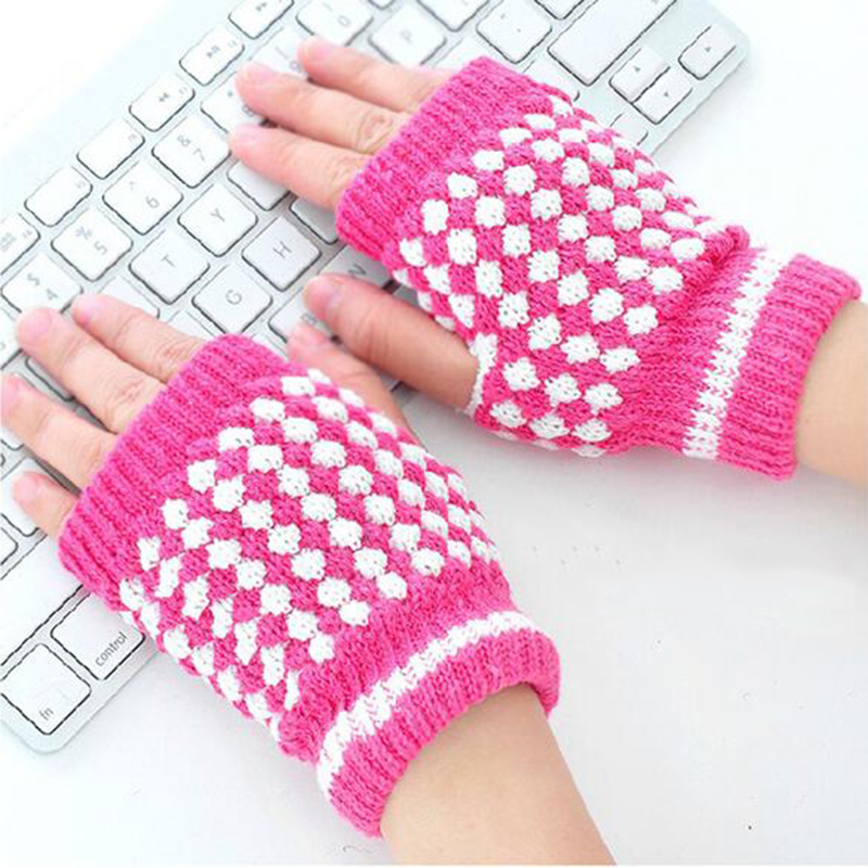 Hot Selling Winter Warm Knitted Fingerless Gloves ...