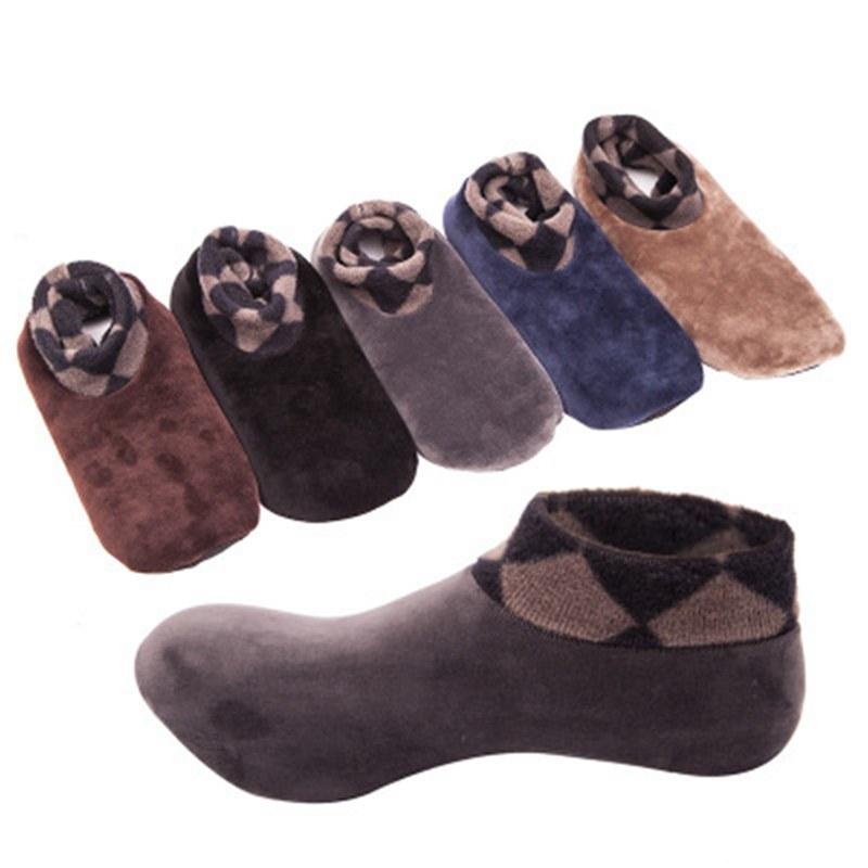 Mens Womens Fashion Fleece Home Floor Socks Adult Winter Warm Antiskid Novelty Thicken Floor Slippers Indoor Socks New CZL8675