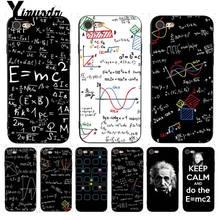 Yinuoda mc2 with E=mc Math Albert Einstein Typically Soft Phone Case for iPhone 7 X 6 6S 8 Plus 5 5S SE XR XS XSMAX