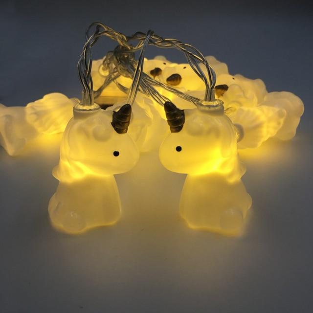 Ledgle Chic Unicorn String Lights Battery Ed Fairy Light Decorative Single Lighting Mode