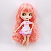 Factory Neo Blythe Doll Long Pink Hair Jointed Body 30cm