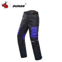 DUHAN Motorcycle Pants Men's Oxford Motocross Pants Motorbike Hip Protector Moto Pants Motorcycle Trousers Black Red Blue