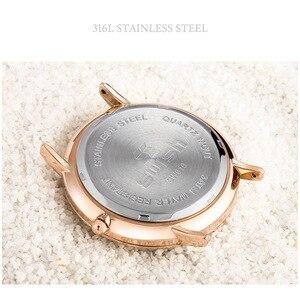 Image 2 - スウィッシュ 2020 男性超薄型腕時計革ステンレス鋼クォーツ時計 30 メートル防水ブラウンレザー腕時計